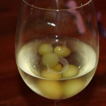 Frozen Green Grapes in Chardonnay