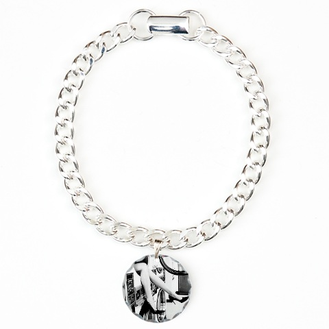 cafepress spin cycle charm bracelet