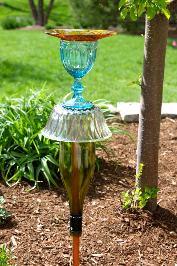 Flea Market Glass Lawn Ornament