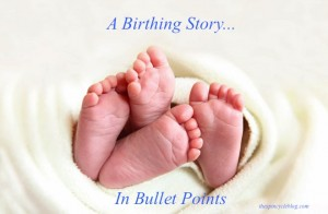 birthing story of twins